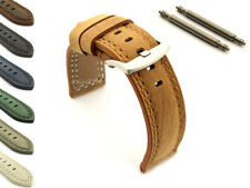 Men's Genuine Leather Watch Strap Band Waterproof 20 22 24 26 28 Galaxy MM