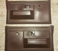 81-87 Chevy Truck Interior Door Panels Maroon Blazer Jimmy Suburban Sierra 81 87