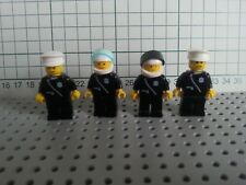 VINTAGE LEGO - TOWN CITY - 4 x POLICE EMERGENCY SERVICE  - MINIFIG FIGURES LOT 1