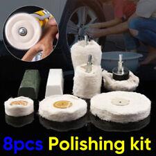 8xBuffing Pad Polishing Mop Wheel Pads For Drill Kit Buffer Polish Wheels Kit UK
