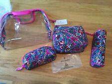 Vera Bradley iconic 4 pc. cosmetic set Kaleidoscope pattern - new in packaging