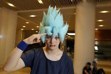 Dragon Ball Z GOKU Anime Cosplay Costume Wig Hair styled Blue +Track