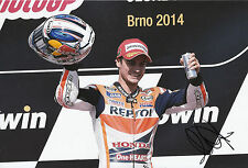 Dani Pedrosa mano firmado Repsol Honda 12x8 Foto 2014 de MotoGP.