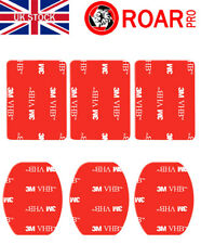 3M VHB Adhesive GoPro Replacement Sticky Pads Pack of 6 (3x Curved, 3x Flat)