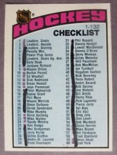 "1976-77 O-Pee-Chee #116 Checklist 1-132 ""Marked"""