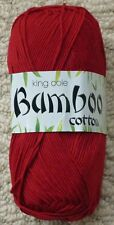 King Cole Bamboo Cotton 100g Ball Shade 539 Claret