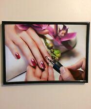 POSTER salone di bellezza A4 260 GSM poster incorniciato stampa/Unghie
