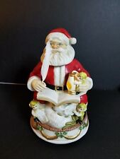 Melody in motion hand made and painted Santa numbered 1665/2500 musical lighted