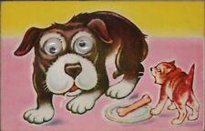 Novelty Dog Postcard Moving Eyes. Stuart Blencowe, Springfield 1968 Lydney CB658