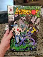 LOT Bloodshot #7 Valiant 1993 1st Ninjak in Costume White Pages