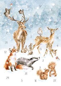 Wrendale Designs Winter Wonderland Traditional A5 Christmas Advent Calendar