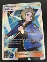 Volkner FULL ART Supporter 156/156 Pokemon SM Ultra Prism NM 2018 Waifus HOT!