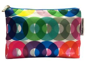 Clinique Kapitza Rainbow Circles Cosmetic Travel Toiletry Makeup Bag Pouch New