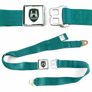 VW Volkswagen Wolfsburg Aqua Lap Seat Belt Chrome Buckle fits Bug Bus Ghia