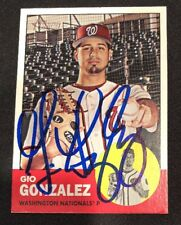 Gio Gonzalez Nationals Signed Auto Autographed 2012 Topps Heritage Card #301 COA