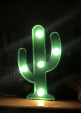 "New 4.75"" LED Icon Light Up Cactus Night Batteries Inc Home Room Decor Gift"