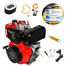 4 Stroke Single Cylinder Diesel Engine 10hp 411cc 722mm Shaft Air Cooled