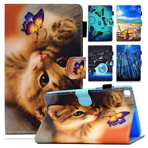 """For Samsung Galaxy Tab A7 Lite 8.7"""" T220 T225 Patterned Leather Stand Case Cover"""