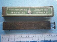RAZOR STROP REPASADOR STREICHRIEMEN CUIR A RASOIR STRING vintage blade sharpener