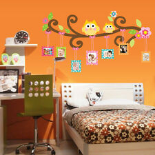 Cute Owl Photo Frame Home Decor Wall Sticker For Kids Room Bedroom Diy Stickers