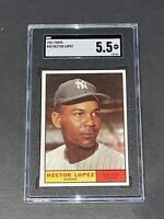 1961 Topps #28 Hector Lopez SGC 5.5 Newly Graded & Labelled