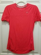 EUC Nike Ladies Miler Short Sleeve Classic Coral Red Running Top 405254  Medium