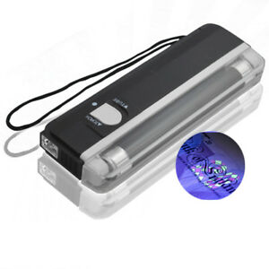 UV Handheld Note Checker Money Tester Light Counterfeits Forged Portable Torch