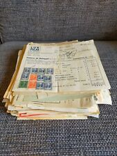 Italia, Regno 1938-1991. Collezione di Marche da bollo su Fatture, Quietanze.