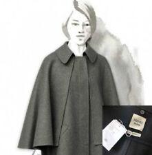 RARE Hermes Women Runway Black Cashmere Jacket Short Cape Coat Size XS S FR34