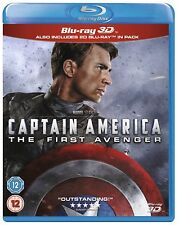 Captain America THE FIRST AVENGER 3D + 2D Blu-Ray BRAND NEW Free Ship
