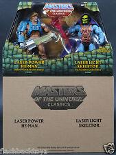 2015 MOTU Laser Power He-Man & Laser Light Skeletor MOTUC Classics 2 Pack
