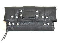 BORSELLO  NERO donna  pochette a mano  borsa pelle tracolla clutch bag sac  E185