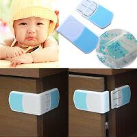 1/2/4x placard pour bébé armoire porte verrou de sécurité à angle droit