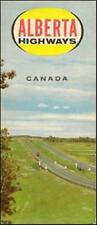 1964 ALBERTA Official Highway Road Map Edmonton Canada
