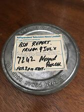 INDEPENDENT TELEVISION NEWS LIMITED ASH REPORT VINTAGE FILM REEL & CAN