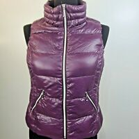 Coatology New York Purple Down Quilted Puffer Vest Women's M Packable