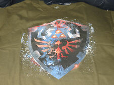 Legend Of Zelda Link Epic Hylian Shield OOP TeeFury T-Shirt Mens Size Medium