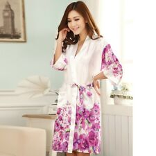 NEW Sexy Womens Silk Satin Pajamas Set Sleepwear&Robes Nightdress Nightgown P032