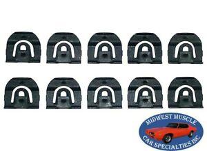 64-67 GM Front Windshield Rear Window Reveal Trim Moulding Molding Clips 10pcs H
