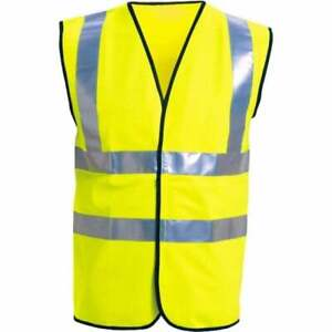 Hi Vis Hi Viz Visibilty Vest Waistcoat Safety EN ISO 20471 Supertouch