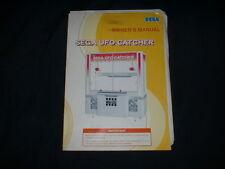 SEGA UFO CATCHER w/SCHEMATICS Orig. Manual-L@@K!