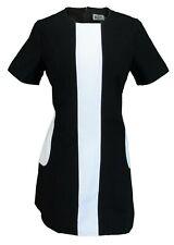 Ladies Retro Mod Vintage Black and White Dress