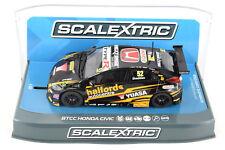 "Scalextric ""Yuasa"" BTCC Honda Civic DPR W/ Lights 1/32 Scale Slot Car C3919"