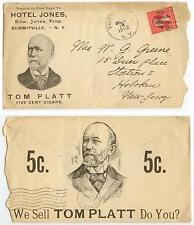 1902 Summitville New York Hotel Jones cover - Tom Platt Cigars advertising