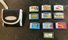 Lot of 9 Leap Frog LEAPSTER Game Cartridges & Carry Case EUC