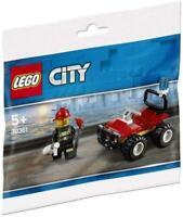 LEGO City 30361: Fire ATV Quad Bike & Fireman Minifigure (Polybag)  New & Sealed