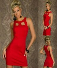 Sexy Red Sleeveless Office Formal Cocktail Party Dance Club Mini Dress Sz 8 10
