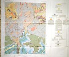 Usgs Dolores Peak Colorado Geologic Map, Full Color Map, Original Sleeve 1966