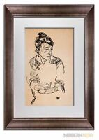 "Egon SCHIELE Lithograph SIGNED LIMITED Ed ""Artist Mother"" 1918 +++Custom FRAMING"