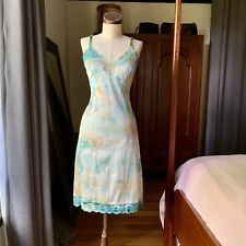 DYED PETALS Vintage Eco-Dyed Tie-Dyed Slip Dress S/M 34